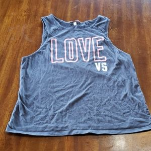 Victoria's Secret Small Cropped Grey & Pink Tank S
